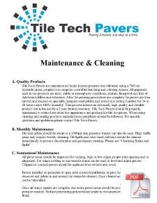 Pavers Maintenance & Cleaing