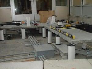 Pedestals for mechanical access walkways