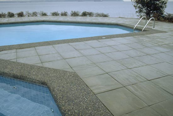 Pool Pavers used for pool coping