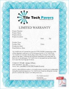 Concrete Paver Warranty